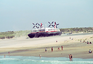 The Princess Margaret SR.N4 Hover Craft - on the beach at Calais