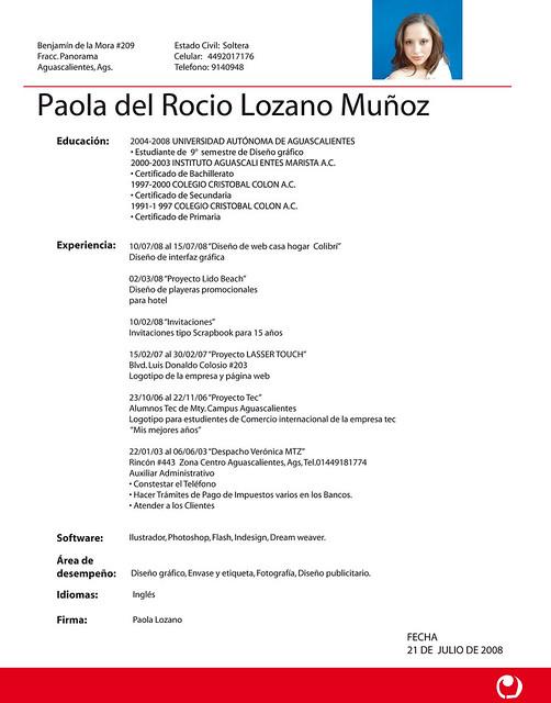 392 x 500 jpeg 56kB, Currículum en español | Flickr - Photo Sharing!