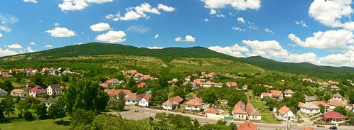 blue houses beautiful forest countryside hungary village loved hillsandmountains kisnána panoramaandview