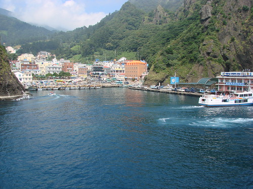 Harbour at Ulleung Island: Photo by watchsmart.