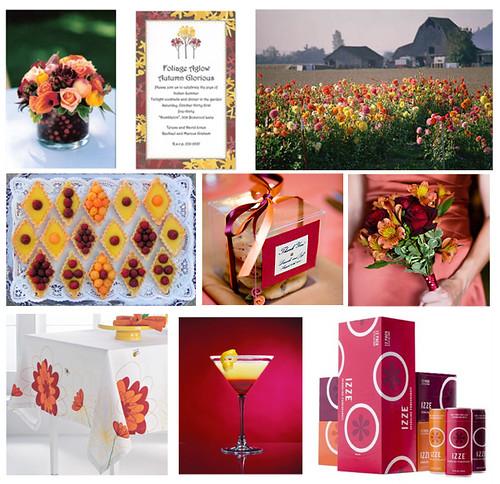 Wedding Wednesday Yellow Maroon Burgandy Pink and Orange by