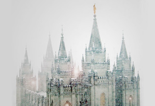 Salt Lake City Temple, Blizzard | by Altus Photo Design