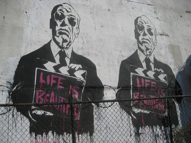 Alfred Hitchcock Mural by Mr. Brainwash
