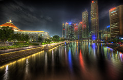 A quiet night in Singapore
