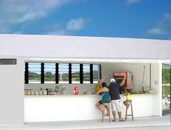Oscar Niemeyer - The Station Cabo Branco - snack bar, zoom