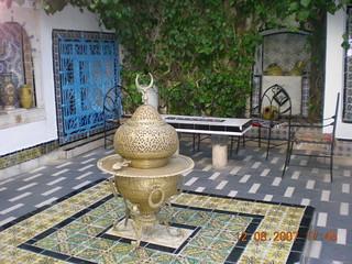 L'interieur de Dar Ennabi à Sidi Bou Said