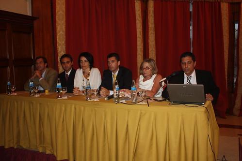 Foto del Panel con los autores del libro Apuntes del DIRCOM
