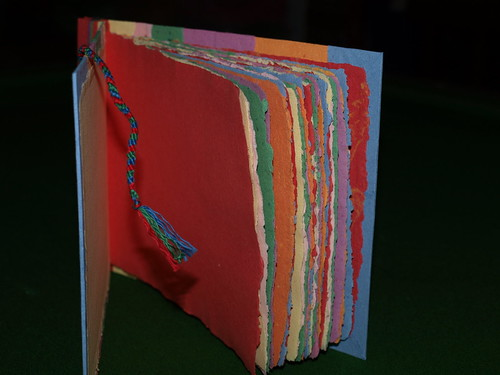 Rainbow Book 100% recycled handmade paper by Recycled Handmade Paper
