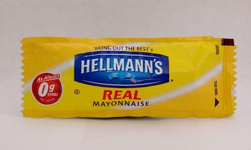 Hellmann's Real Mayonnaise Packet by Catastrophysicist