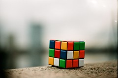 rubik's cube, yellow, red, green, mechanical puzzle, toy,