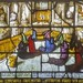 Shrewsbury, St Mary, Sanctuary, North, triple lancet window, St Bernard in Night Office has vision showing attention of each monk to singing
