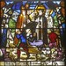 Shrewsbury, St Mary, Sanctuary, North, triple lancet window, St Bernard heals paralysed woman in presence of bishop of Metz