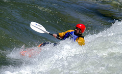 sea kayak(0.0), vehicle(1.0), sports(1.0), rapid(1.0), recreation(1.0), sports equipment(1.0), outdoor recreation(1.0), kayak(1.0), boating(1.0), canoe slalom(1.0), extreme sport(1.0), water sport(1.0), kayaking(1.0), whitewater kayaking(1.0), watercraft(1.0), canoeing(1.0), boat(1.0),