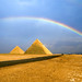 Rainbow over the pyramid
