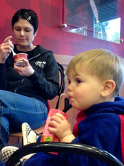 mother's day   ice cream and juice boxes at cold sto…
