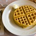 Bacon and Cornmeal Waffle