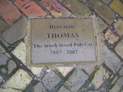 Plaque at the Five Bells