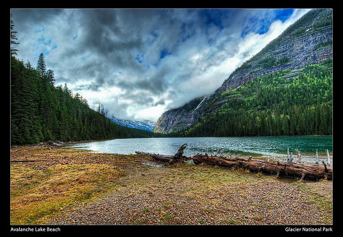 Avalanche Lake Beach - Glacier National Park