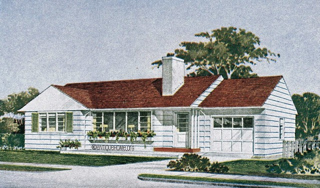 The kenilworth 1950s ranch style home mid century modern for 1950s ranch style house plans