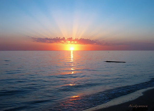Sunset at the Caspian Sea - Закат на Каспии