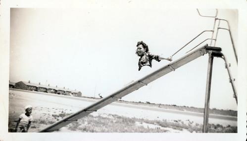 Girl on the slide