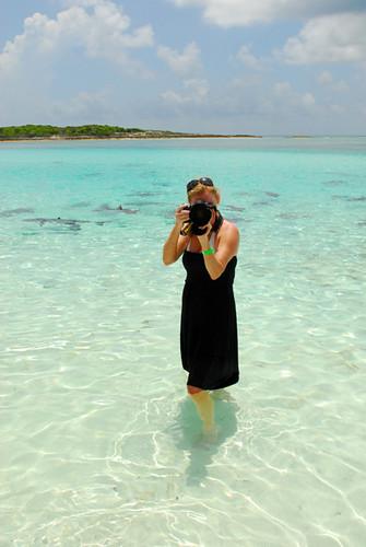 Alexandria LaNier enjoys Shark infested waters in the Bahamas