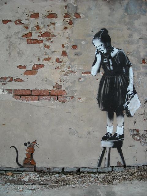 New Orleans >> Banksy - New Orleans - Eek! | Flickr - Photo Sharing!