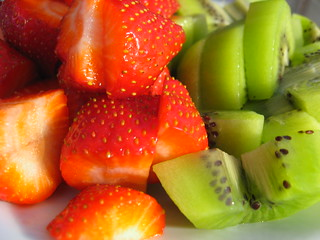 kiwis and strawberries