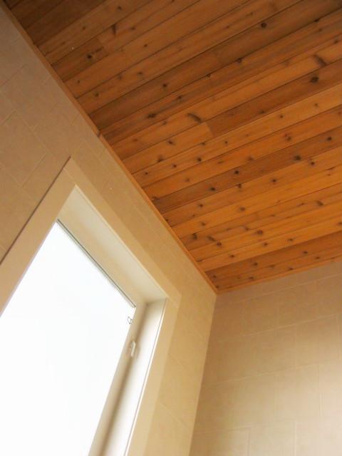 Cedar Lined Bathroom Ceiling Flickr Photo Sharing