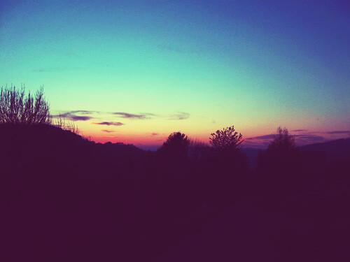 pink blue sunset black dark nice sonnenuntergang ohthegoodlife