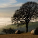 Fog in valley around Uncleby and Kirby Underdale by JonTait2002