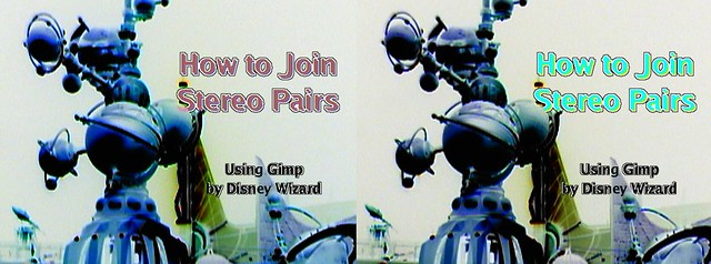 How to Join Stereo Pairs for cross-eye free-viewing, using Gimp, by Disney Wizard