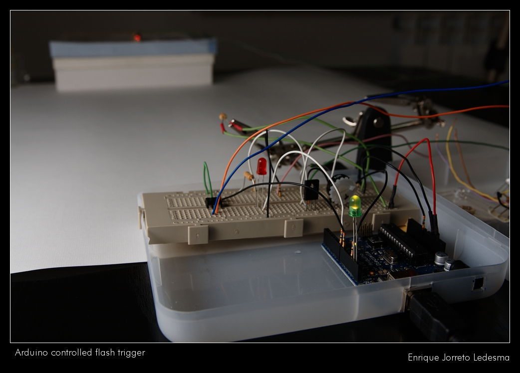 Arduino controlled flash trigger flickr photo sharing