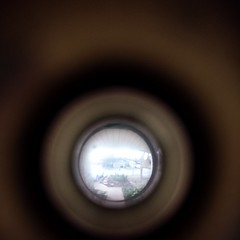 The view our the front door peephole. #home