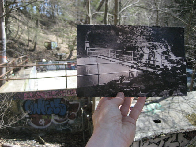 Bard Swimming Pool 1950s and Today