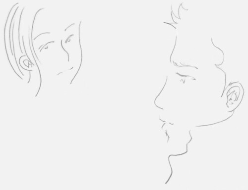 简笔画《卡通侧面蝴蝶 简笔画 《 简笔画 女孩-女性侧脸轮廓简笔画 美