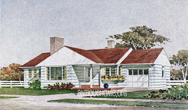 the woodlawn  1950s ranch style home  kit house