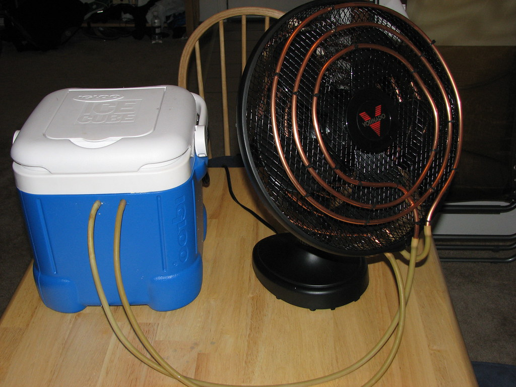 Homemade Air Conditioner 1 & ICE COOLER AIR CONDITIONER