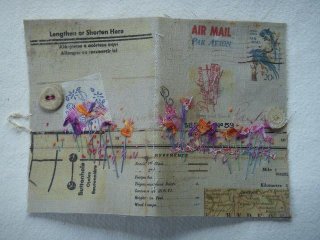 Collaged Envelope needlecase