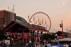 Navy Pier at dusk