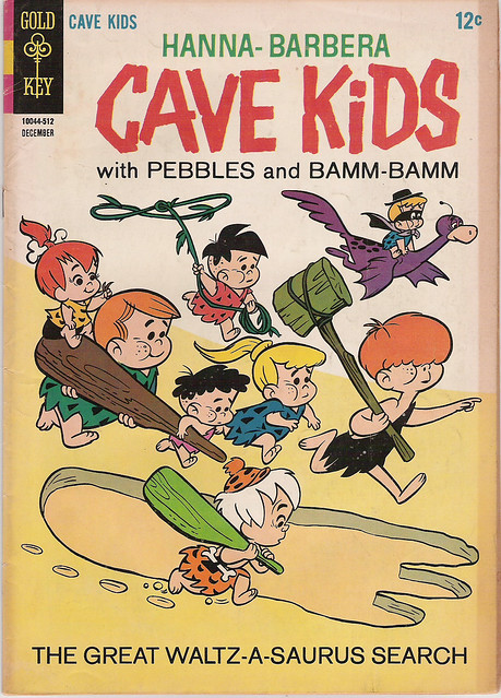 HANNA-BARBERA CAVE KIDS #14 WTH PEBBLES and BAMM BAMM 1966 SILVER AGE GOLD KEY