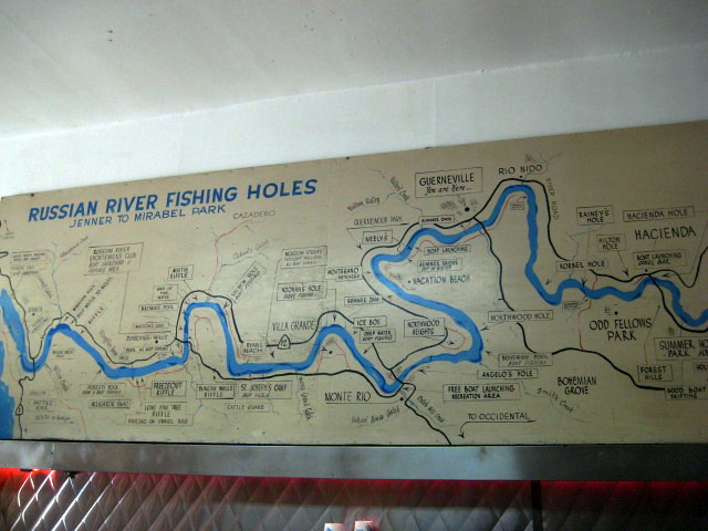 Russian river fishing holes map flickr photo sharing for Russian river fishing