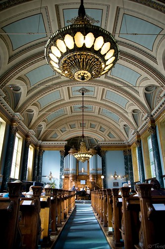 The stunning Grade 1 listed church erected in 1859 by Sir Titus for his workers, opened for the Saltaire Festival, complete with organist!