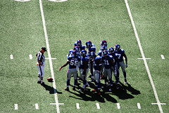 Giants Defense Huddle