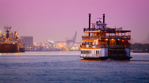 blue sunset sky water river georgia boat flickr unitedstates magenta scene savannah