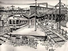 YAMATO TRAIN STATION 1963 JAPAN 日本