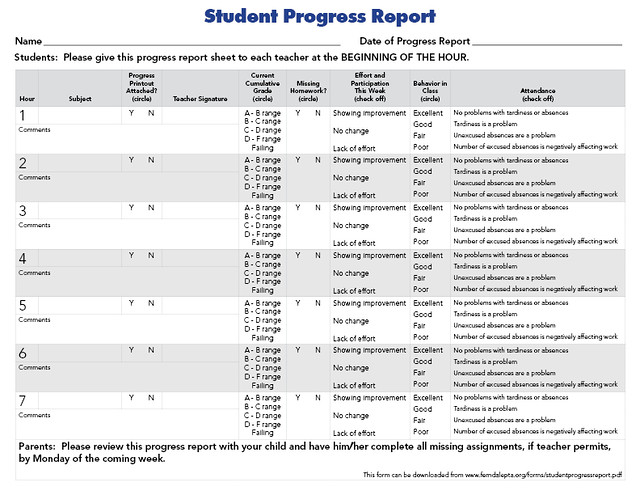 Student Progress Report | Flickr - Photo Sharing!