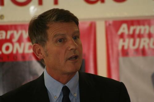Vincent Peillon à Quimper le 18 octobre 2008