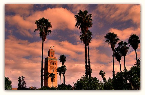 trees sky roy beauty clouds view perspective morocco depth minare abigfave anawesomeshot goldstaraward marackesh