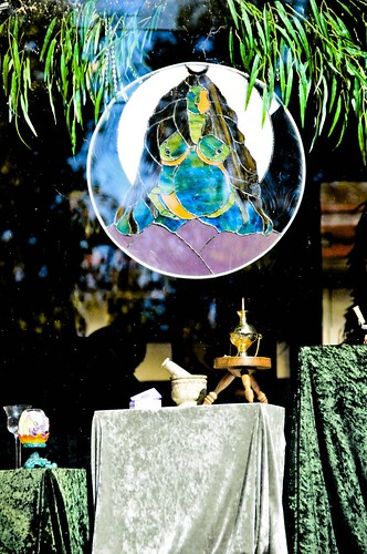 The wiccan store window